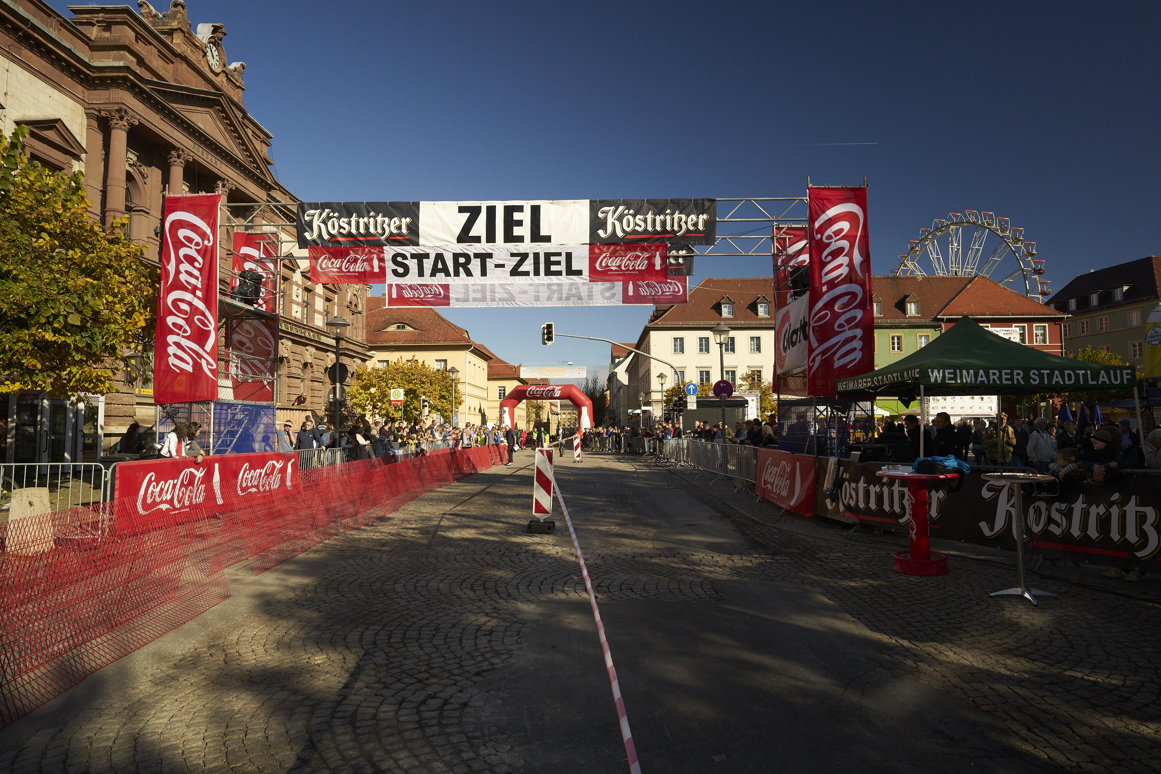 Start-/Zielbereich vor dem Lauf